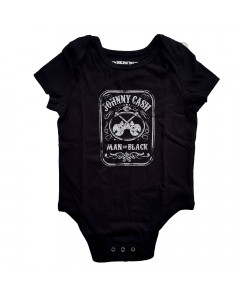 Johnny Cash Onesie Baby Rocker Man in black