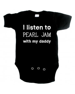 rock baby onesie I listen to Pearl Jam with my daddy