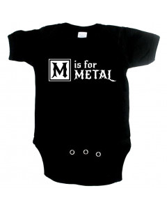 Metal Baby Onesie M is for metal