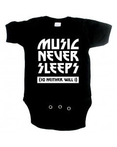 Cool Baby onesie music never sleeps so neither will I