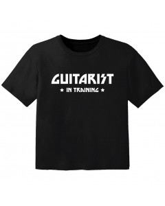 rock baby t-shirt guitarist in training
