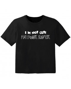 rock baby t-shirt im not cute im punk rock