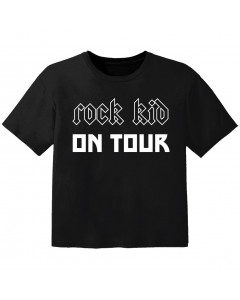 rock baby t-shirt rock kid on tour