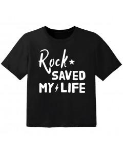 rock kids t-shirt rock saved my life
