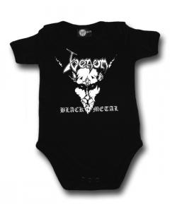 Venom Onesie Baby Rocker metal logo