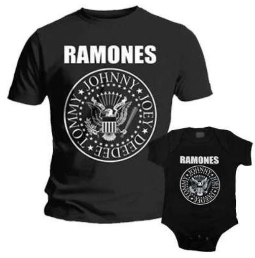 ramones father and kids matching duo rock set