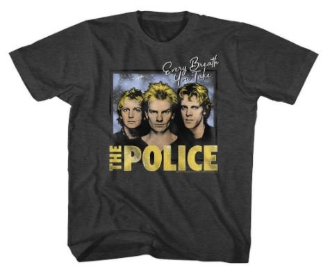 the police 1980 punk kids t-shirt
